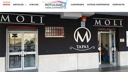 Creación web para rotulación y luminosos en Huelva