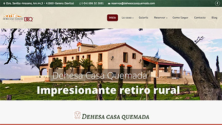 Página web casa rural en Huelva