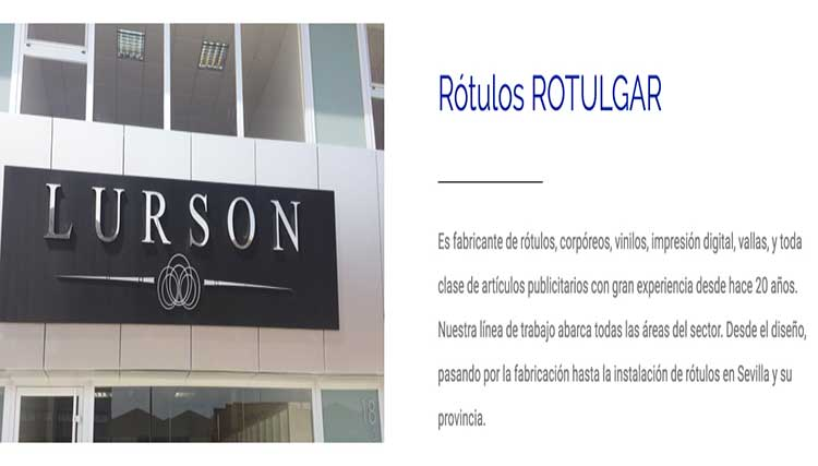 Páginas web para luminosos de Huelva